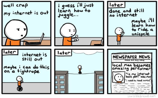 no internet comic