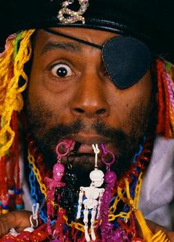 George Clinton Wearing Pirate Costume