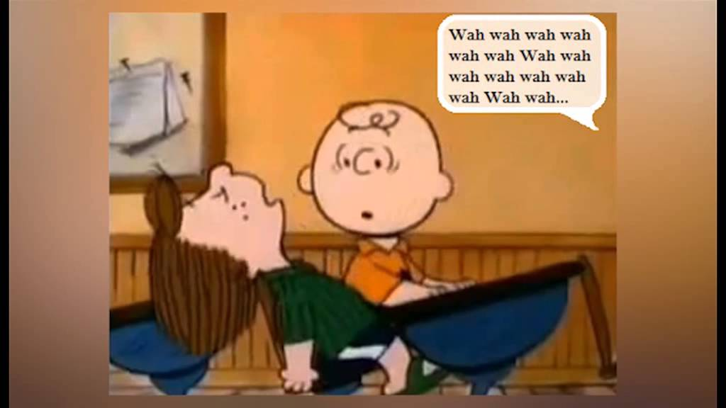 peanuts wah wah adults talking