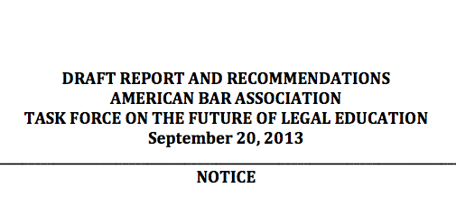 ABA Future of Legal Education Issues Its Draft Report