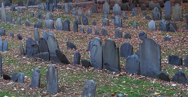 tombstones graveyard