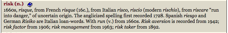 risk etymology