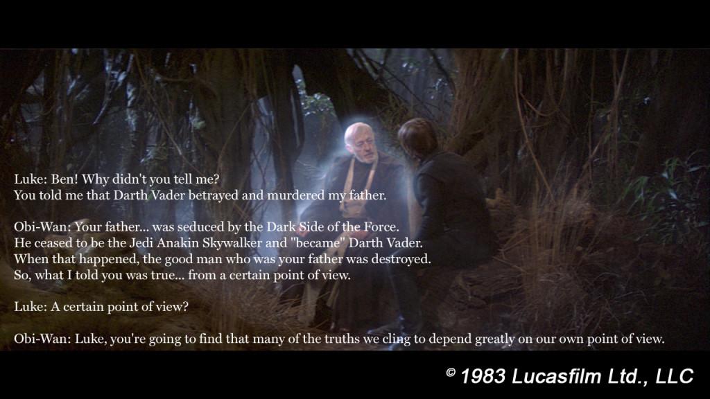 Ben Kenobi and Luke Skywalker