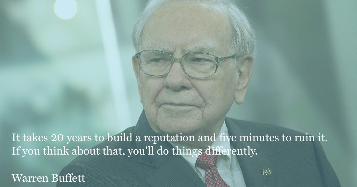 warrenn buffett reputation management