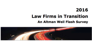Review Altman Weil 2016 Law Firms in Transistion