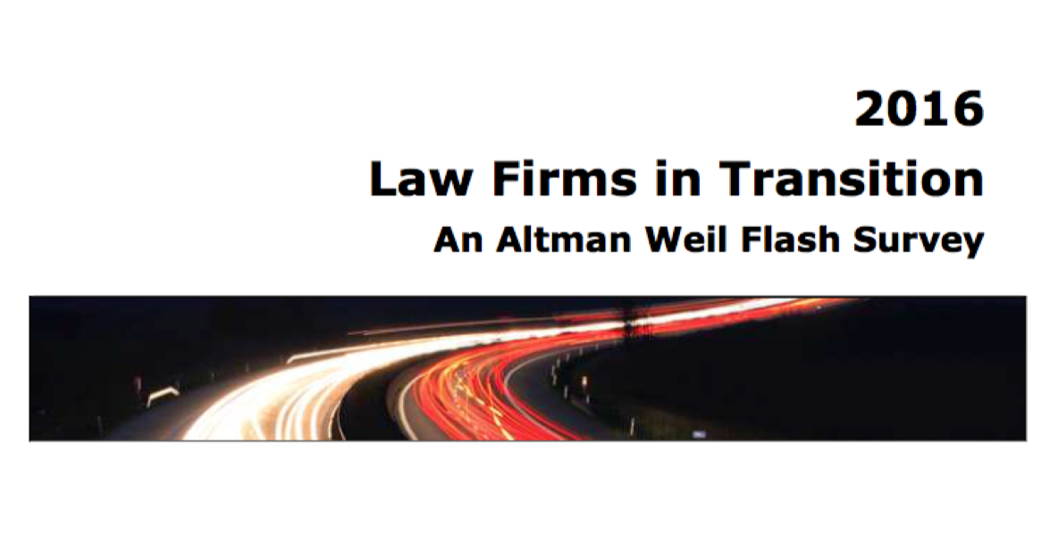 Review: Altman Weil 2016 Law Firms in Transition