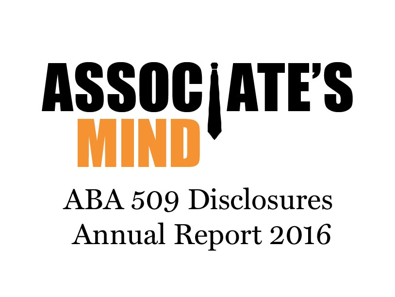 ABA 509 Disclosures For All Law Schools 2016