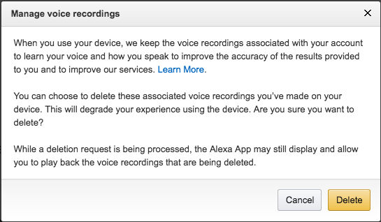 Amazon Echo Legal Documents