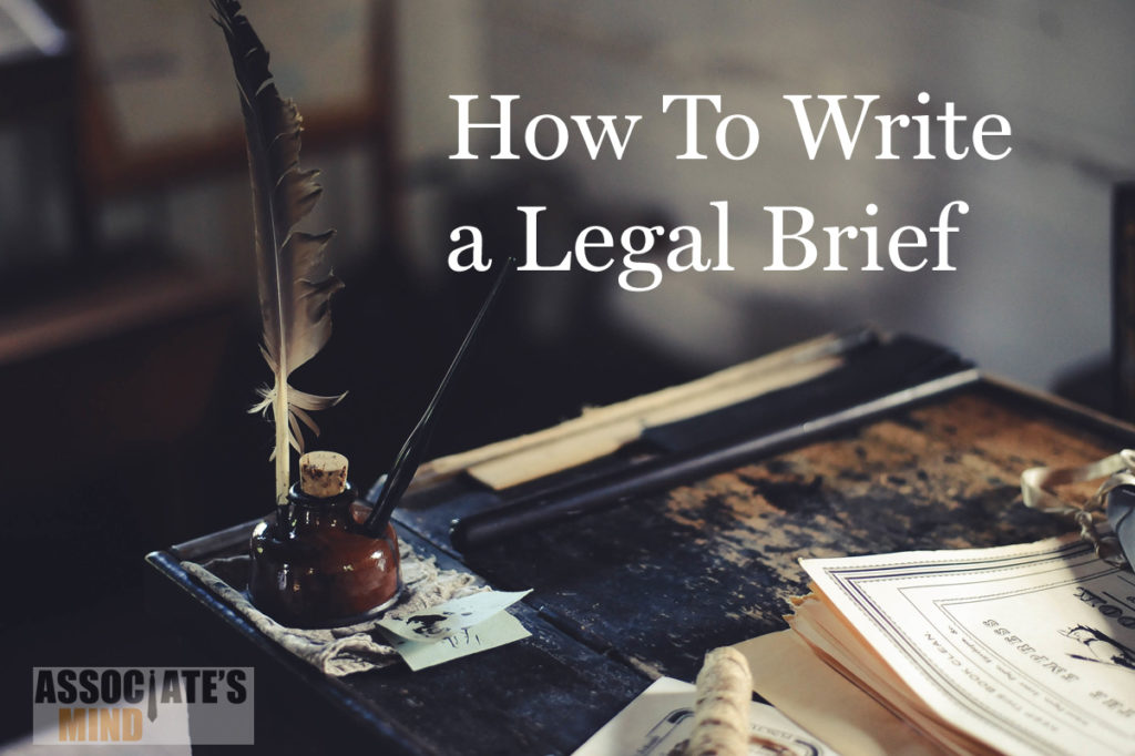 how to write a legal brief for dummies